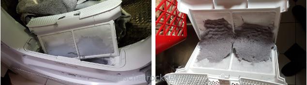 Nach dem Trocknen eine kurze Reinigung Ähnlich wie bei einer Waschmaschine.