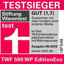 Miele TWF 500 WP Edition Eco Testsieger.