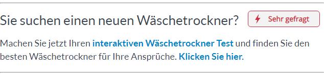 Zum Interaktiven Wäschetrockner Test.