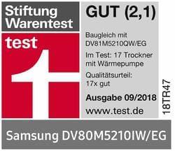 Samsung DV80M5210IW/EG  Stiftung Warentest